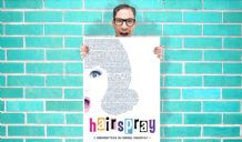 Hairspray lyrics I can hear the bells hair Musical - Wall Art Print Poster Any Size - Musical Poster Geekery